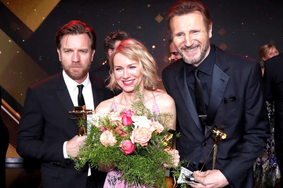Hollywood-Stars wie Ewan McGregor (47), Naomi Watts (50) und Liam Neeson (66) kriegen ihre Goldene Kamera künftig (wieder) in Berlin.