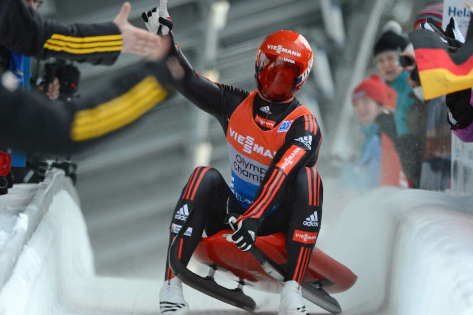 Der deutsche Rodler Felix Loch bei der Rodel-Europameisterschaft 2013 in Oberhof.