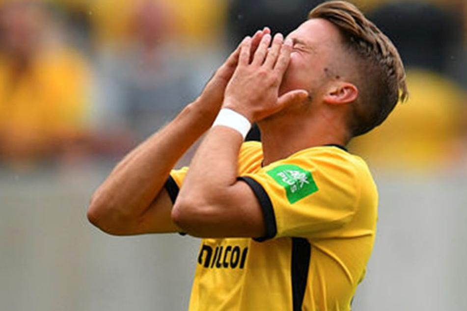 Was für ein Ärger! Dynamos Patrick Möschl kam in allen acht Vorbereitungsspielen zum Einsatz, schaffte es aber nicht, die richtigen Akzente zu setzen.
