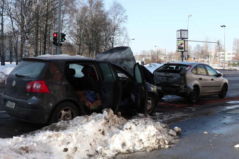 Die beiden Autos waren auf der Clausstraße
