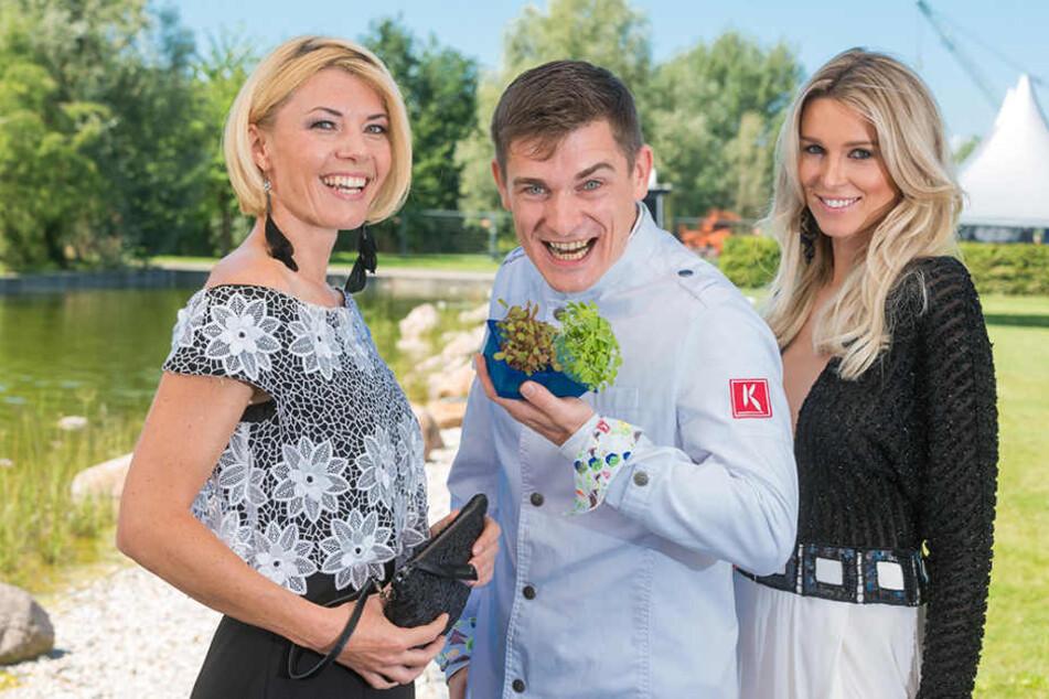 Moderatorin Sylvie Piela, Gewürzexperte Marcel Thiele (37, Spice-Hunter) und Katja Kühne..