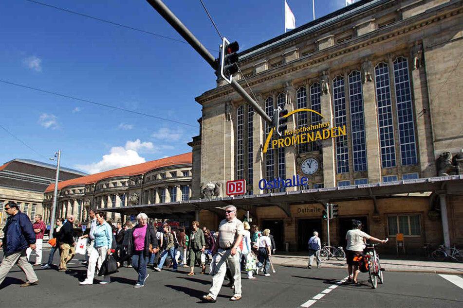 Der Verkehrsbereich vor der Osthalle des Leipziger Hauptbahnhofs gilt als gefährliches Pflaster.