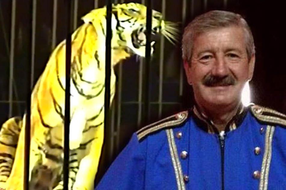 Ettore Weber starb nach einem Tiger-Angriff. (Bildmontage)