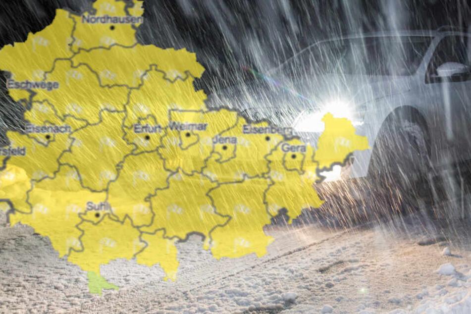 Mit Schnee rechnen die Wetterexperten in Thüringen.