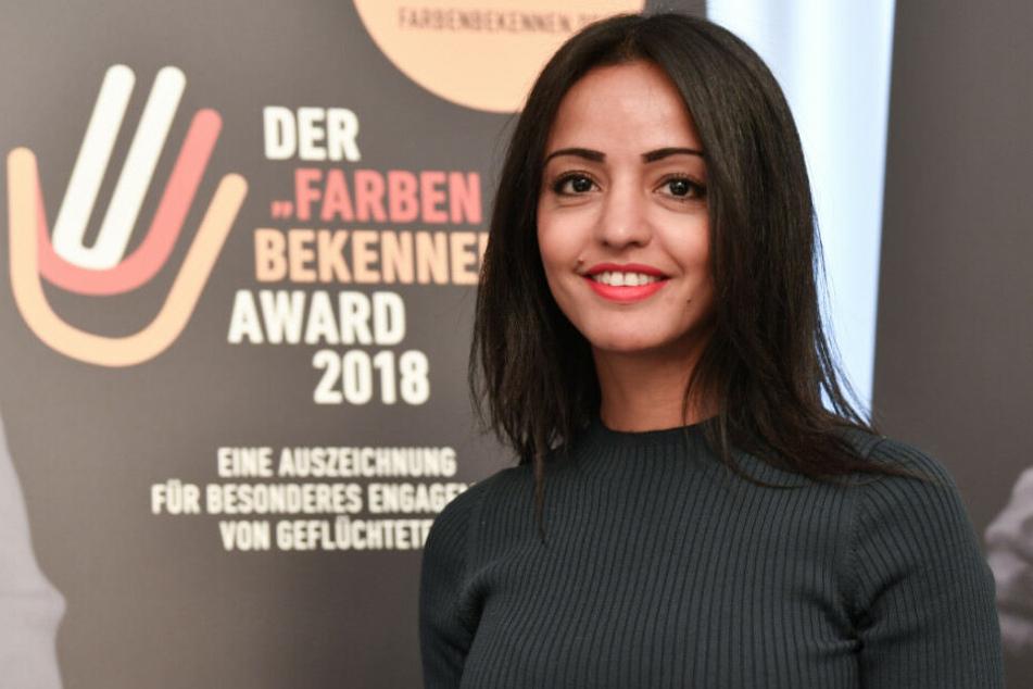Sawsan Chebli bei der Präsentation der Finalisten und dem Start der Online-Abstimmung für den #Farbenbekennen-Award 2018 im Roten Rathaus.