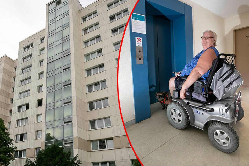 Dresden: Aufzug seit zwei Wochen kaputt! Vonovia-Mieterin in Hochhaus gefangen