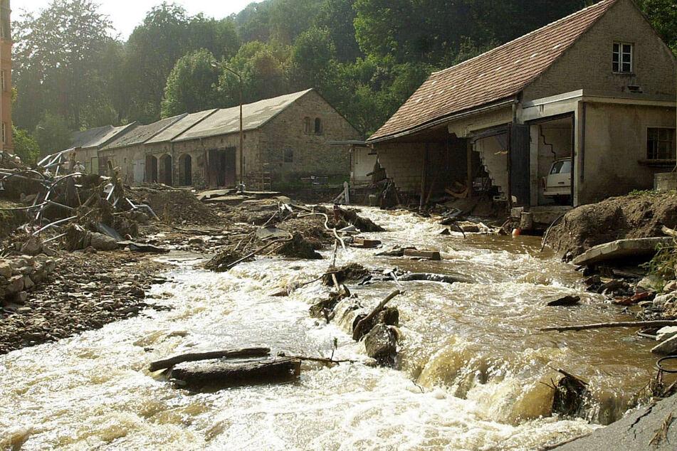 Bilder der Flutkatastrophe in Glashütte.