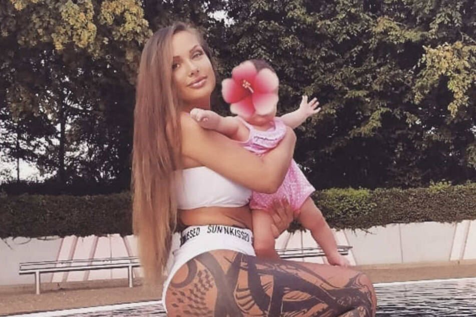 Die Rapperin mit ihrer kleinen Tochter Jeyla Aaliyah.