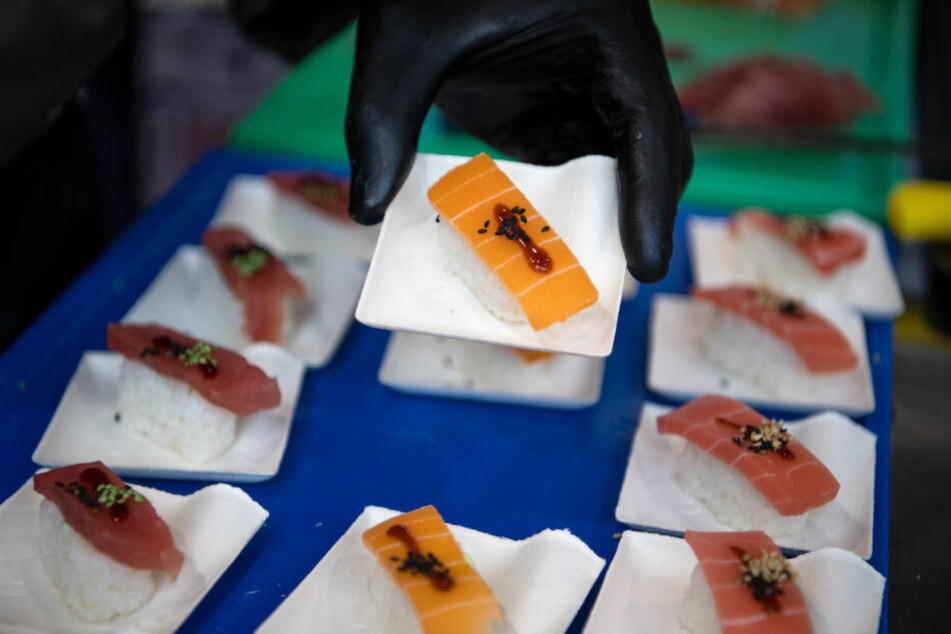 Auch Sushi gibt es inzwischen in veganer Form.