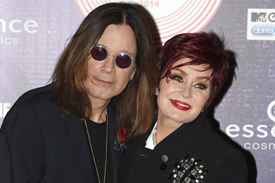 Ozzy Osbourne und seine Frau Sharon bei den Europe Music Awards 2014.