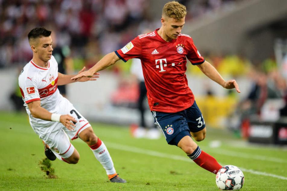 Joshua Kimmich (r.) und der FC Bayern München wollen nachlegen. (Archivbild)