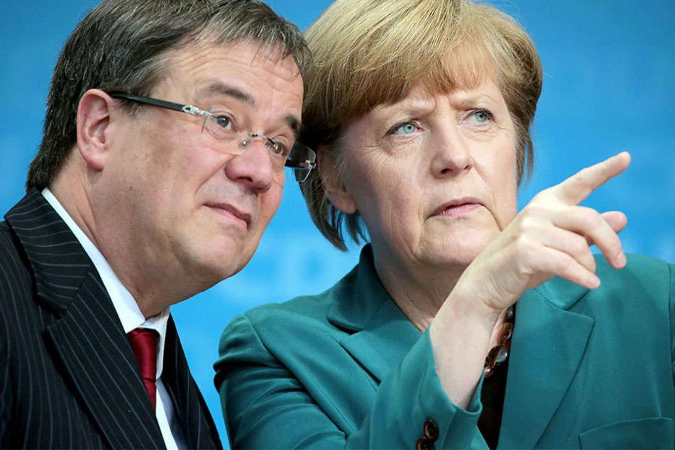 Angela Merkel soll Armin Laschet dabei helfen, in NRW an die Macht zu kommen.
