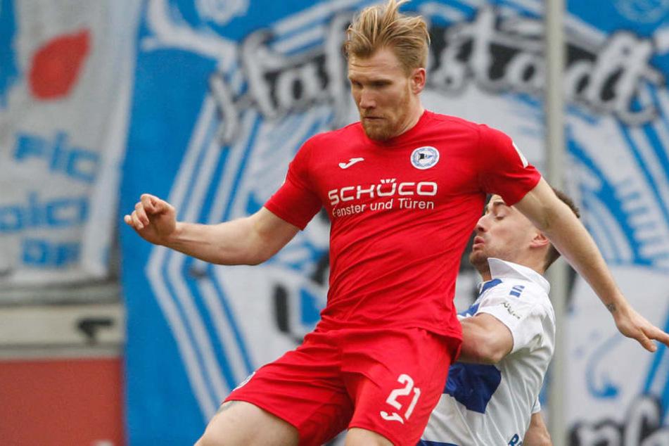 Andreas Voglsammer konnte gegen den MSV Duisburg keinen Treffer beisteuern.