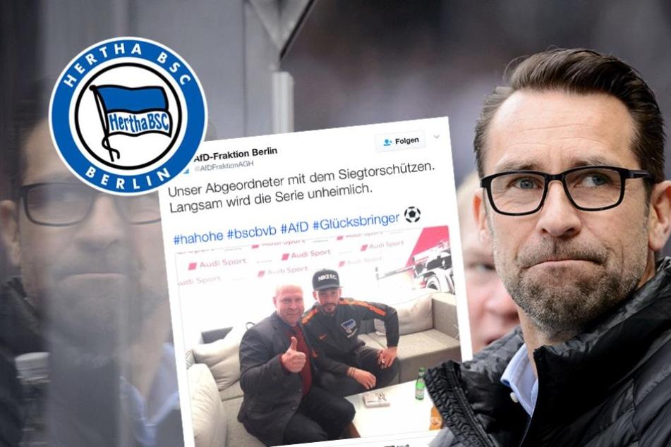 Hertha will einstweilige Verfügung gegen die AfD