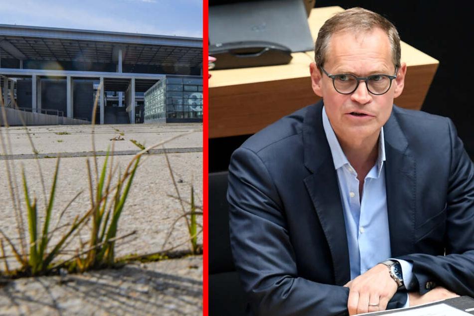 Er war für knapp zwei Jahre Aufsichtsratschef des Pannenflughafens: Berlins regierender Bürgermeister Michael Müller.