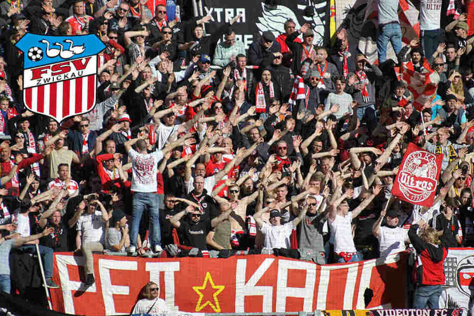 Auch beim Auswärtsspiel: Der FSV kann auf seine Fans zählen
