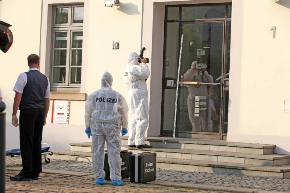 Die Spurensicherung war nach dem Vorfall an der Commerzbank-Filiale im Einsatz.