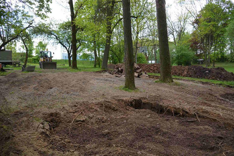 Der alte DDR-Spielplatz im Rabensteiner Carlowitzpark ist Geschichte.