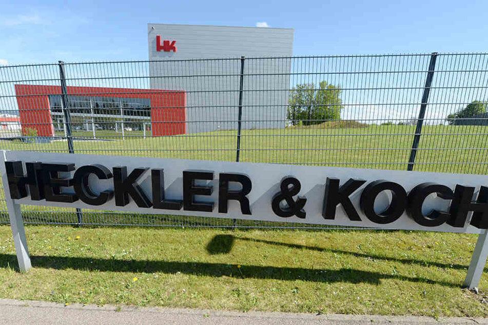 """Die Firmenzentrale von """"Heckler & Koch"""" im baden-württembergischen Oberndorf."""
