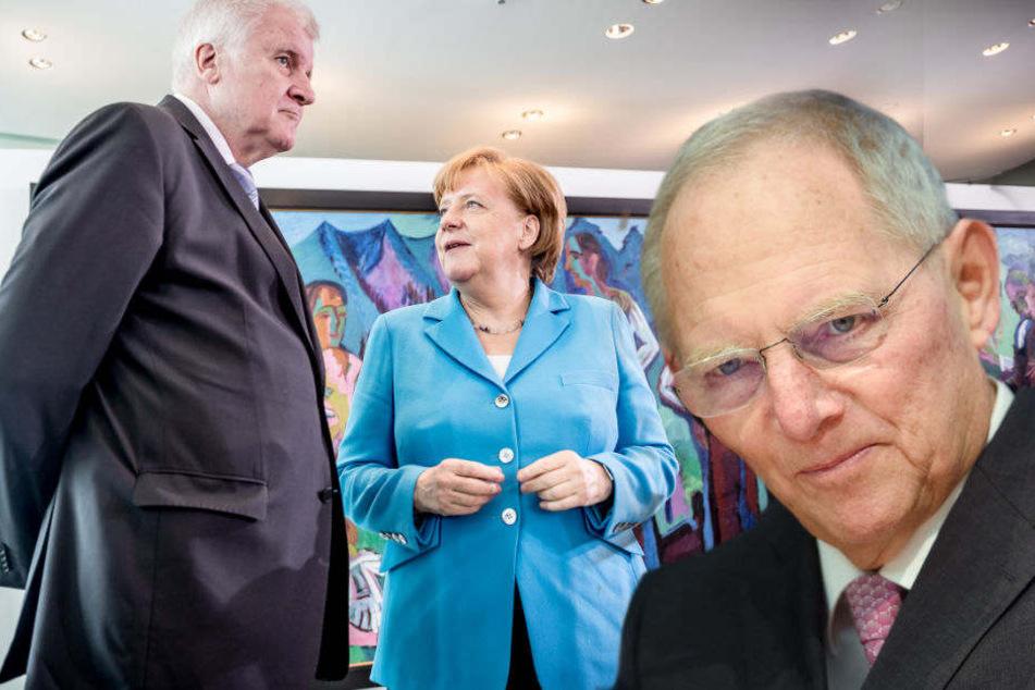 """""""Keine Wahl!"""" Schäuble droht Seehofer mit Entlassung durch Kanzlerin Merkel"""