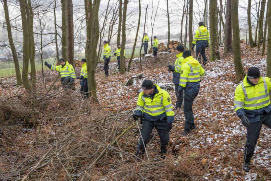 Etwa 40 Polizeischüler und Bereitschaftspolizisten suchten am Dienstag nach dem Vermissten.
