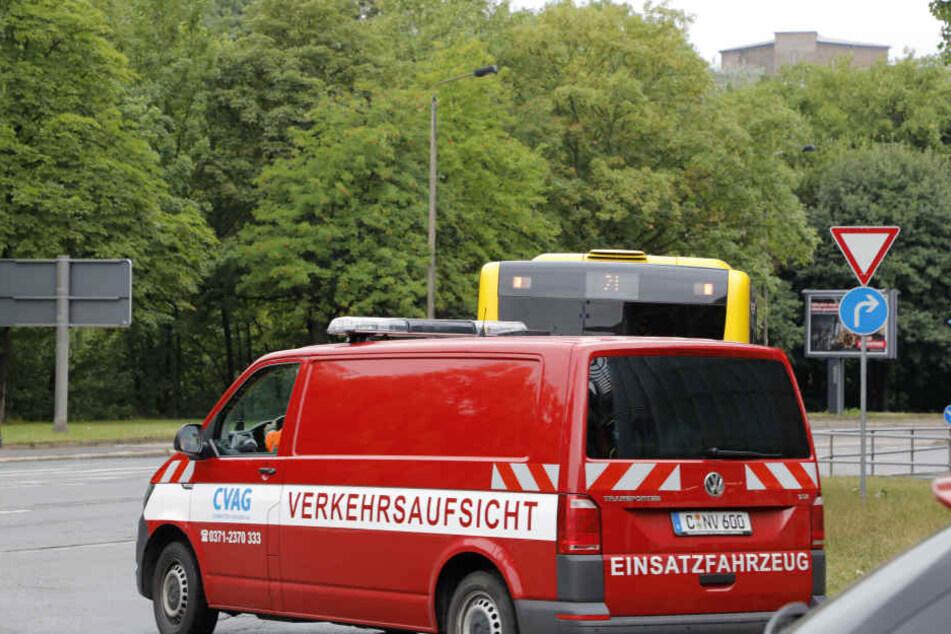 Vor Ort waren neben Rettungskräften und der Polizei auch die hauseigene Verkehrsaufsicht der CVAG.