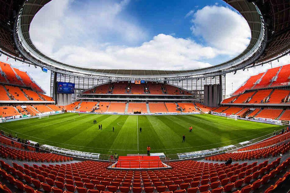 Kurios: In der Jekaterinburg-Arena gibt es Sitzplätze, die außerhalb der Arena liegen.