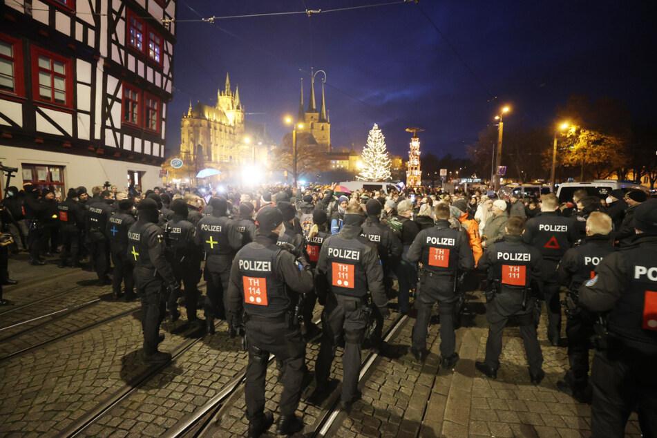 10.000 Menschen sollten kommen: Stadt Erfurt verbietet Demo gegen Corona-Maßnahmen