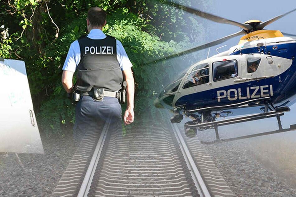Zu Land und in der Luft versucht die Polizei mutmaßliche Täter zu schnappen. (Bildmontage)