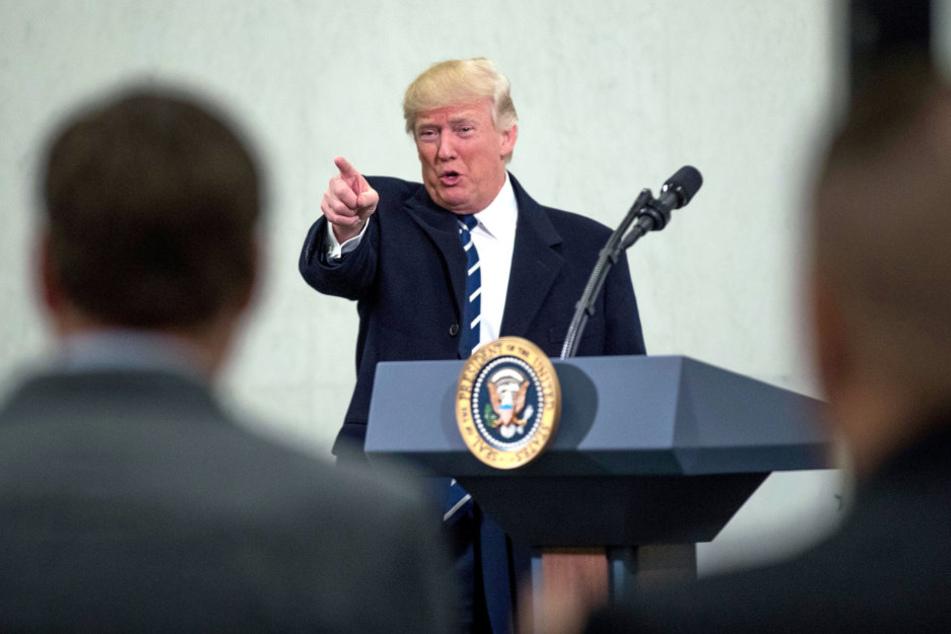 Donald Trump äußerte sich zunächst nicht zu den Demonstrationen.
