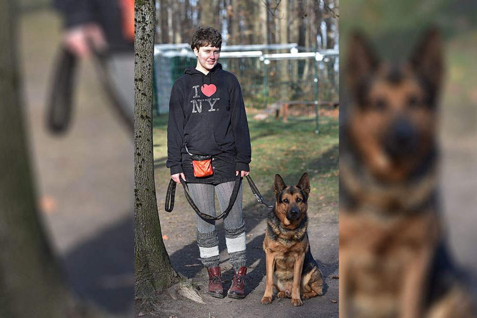 Tierpflegerin Charlotte Apley (18) mit Bobby: Wer will den Schäferhund künftig an der Leine führen?