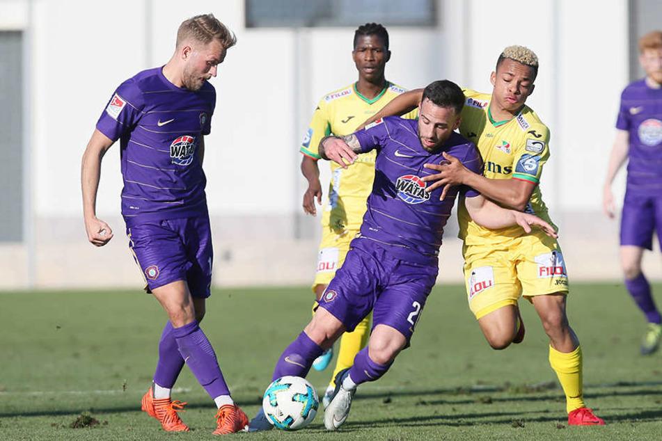 Gegen den belgischen Erstligisten KV Oostende musste Aue eine 0:2-Niederlage hinnehmen.