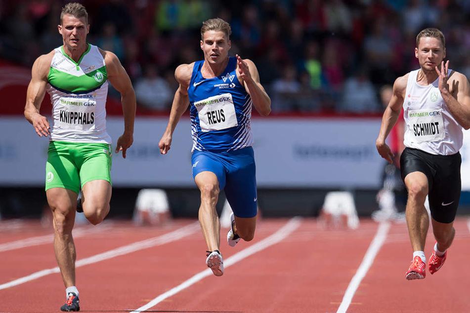 Sven Knipphals (links) und Roy Schmidt (rechts) müssen in Jena noch ran. Rekordhalter Julian Reus hat die WM-Norm mit der Staffel schon geknackt.