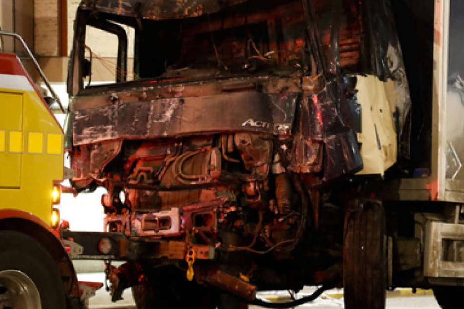 Mit diesem Lkw tötete der Usbeke vier Menschen in Stockholm, 15 Menschen wurden verletzt.