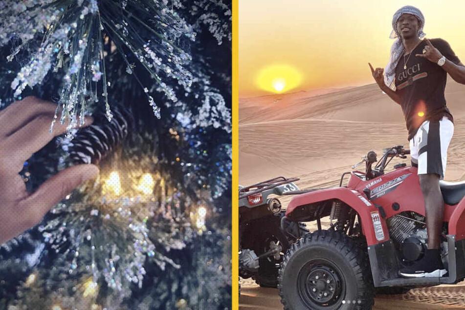Christopher Nkunku zeigt uns seinen Weihnachtsbaum, während Amadou Haidara in der Wüste Dubais posiert.