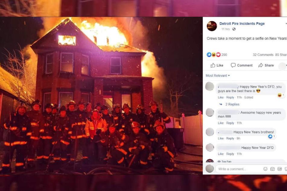 Das Foto der Feuerwehrmänner blieb nicht ohne Folgen: Sie erwarten Disziplinarmaßnahmen - und werden auch bedroht.