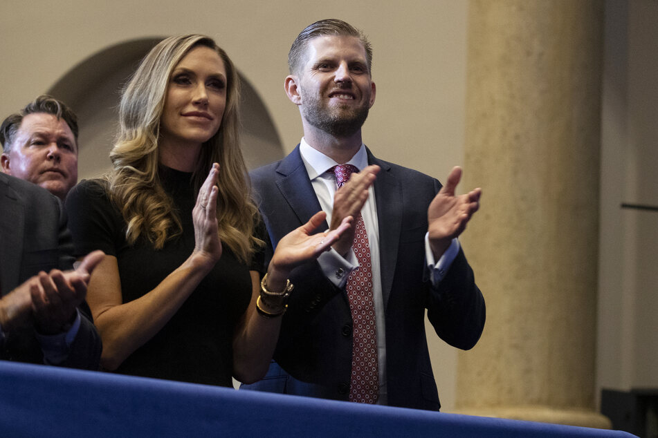 Laura Trump, hier mit Ehemann Eric, war unter anderem Wahlkampfberaterin für Donald Trump.