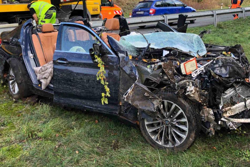 Der Fahrer des BMW hatte keine Chance, den Unfall zu überleben.