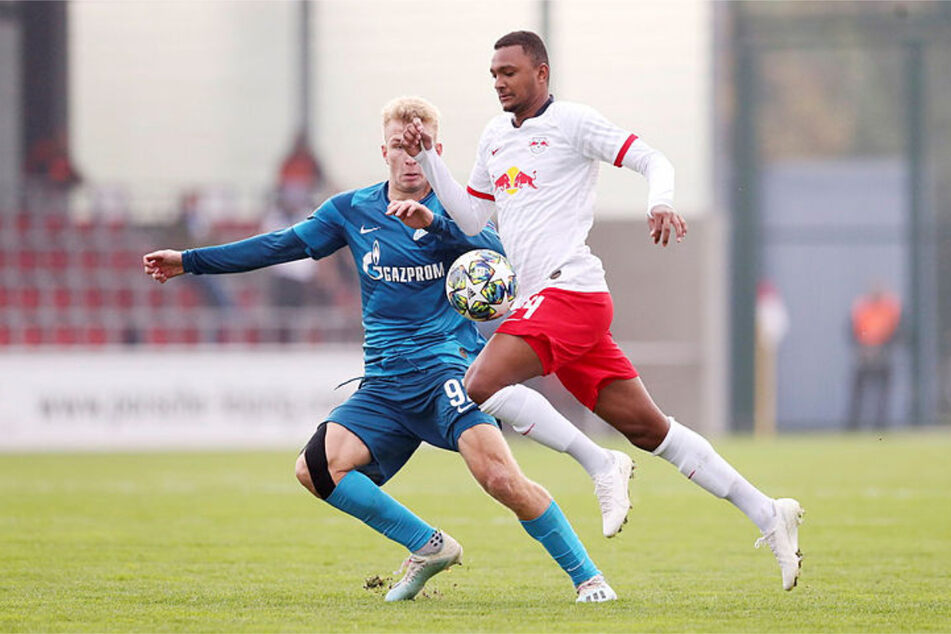 Luan Cândido (20) kam während seiner Zeit bei RB Leipzig mit der U19 in der UEFA Youth League zum Einsatz, hier im Gruppenspiel gegen Zenit St. Petersburg im Oktober 2019. (Archivbild)