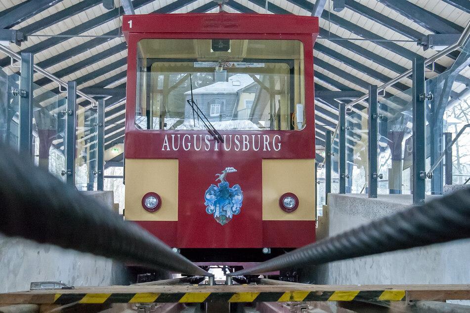 Die Drahtsteilbahn Augustusburg muss vorübergehend den Betrieb einstellen.