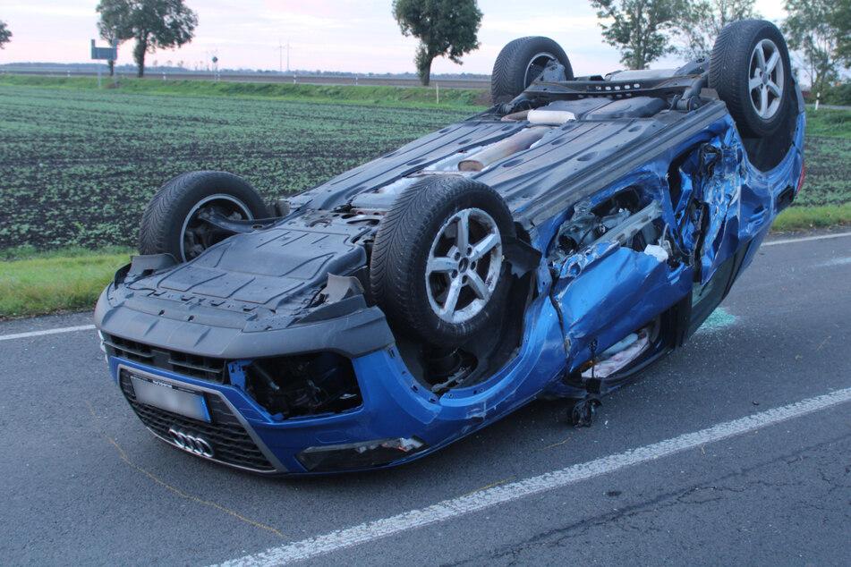 Ford rammt Audi, der überschlägt sich: Mehrere Verletzte bei Unfall im Landkreis Leipzig