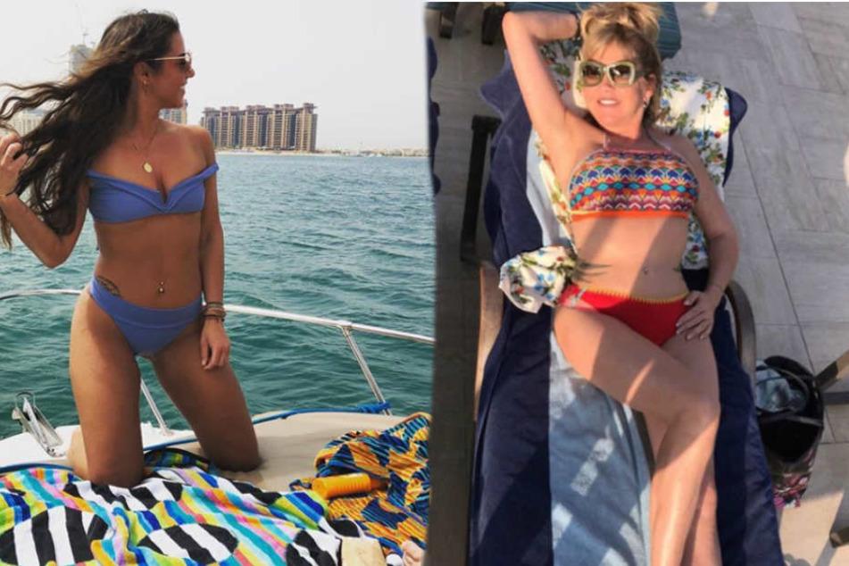 Sarah Lombardi und Carmen Geiss sonnen sich im Bikini.