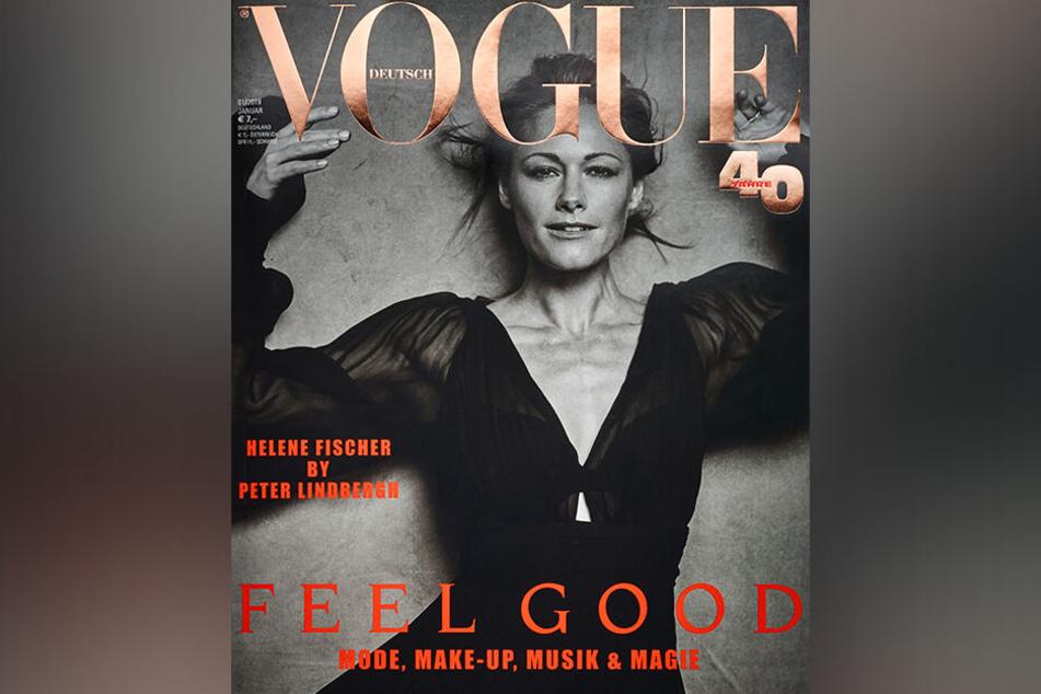 """So posierte Helene Fischer für die """"Vogue""""."""