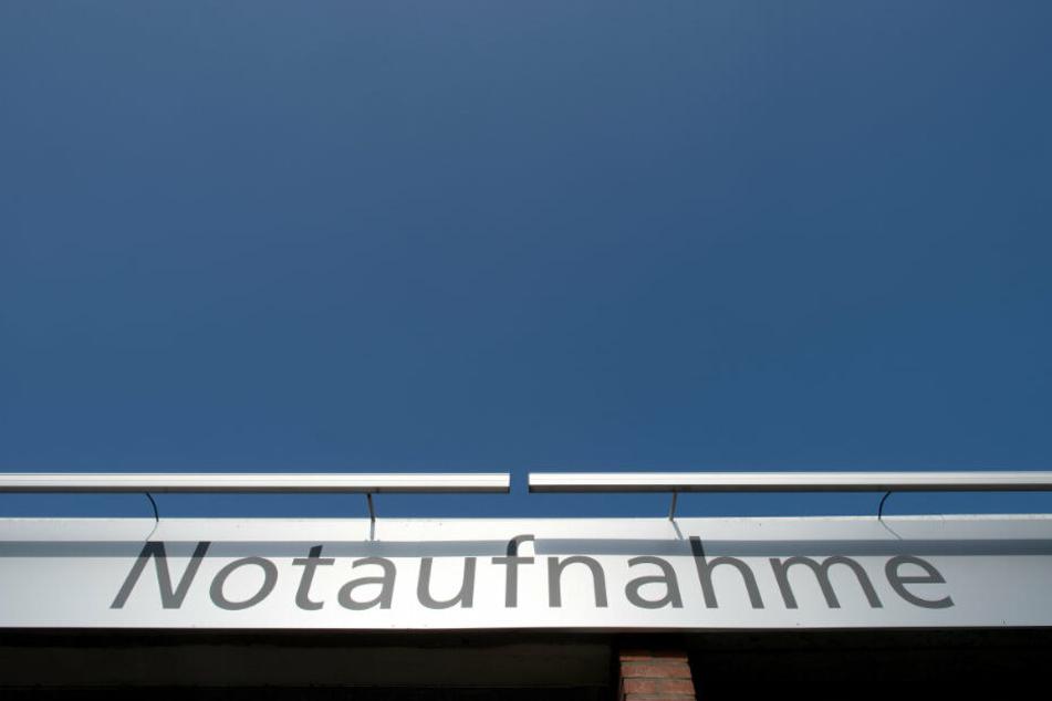 Notaufnahme an einem Krankenhaus in Düsseldorf.