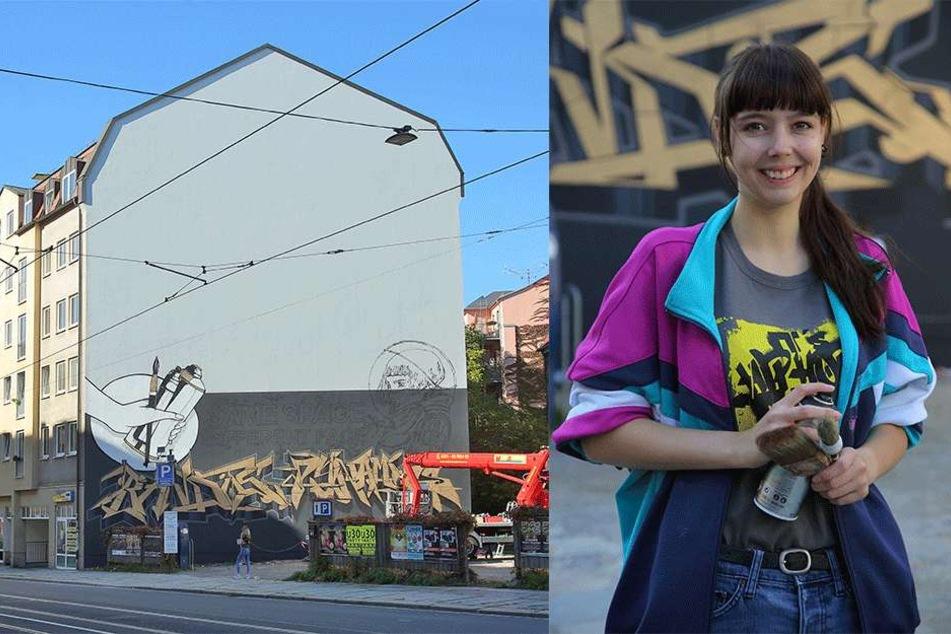 Dresdner Künstler verschönern Fassade an der Bautzner Straße
