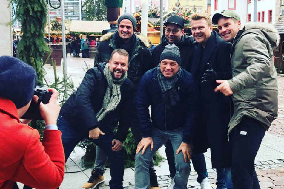 Welche Stars spazieren denn hier über den Chemnitzer Weihnachtsmarkt?
