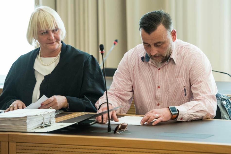 Lutz Bachmann im Jahr 2016 vor Gericht.