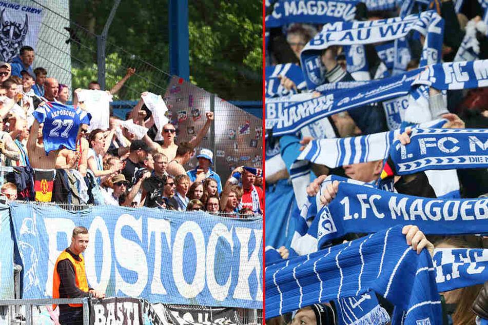 Die vier Anhänger von Hansa Rostock griffen die drei Magdeburger Fans auf dem Hauptbahnhof Wittenberg an (Symbolbild).