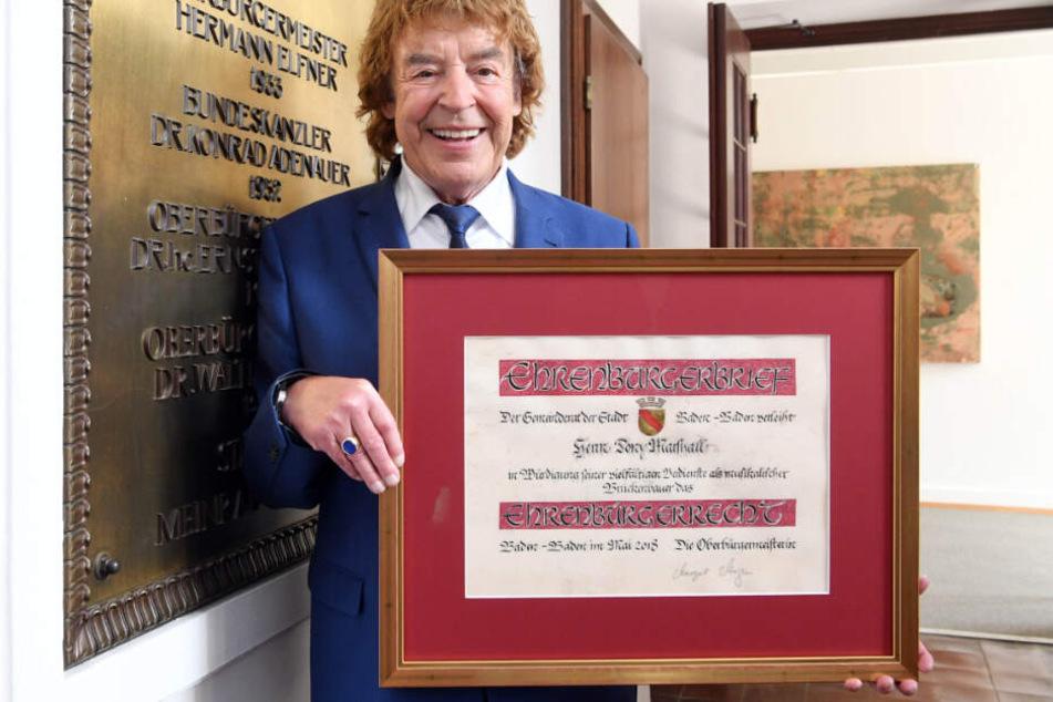 Marshall ist Ehrenbürger von Baden-Baden.