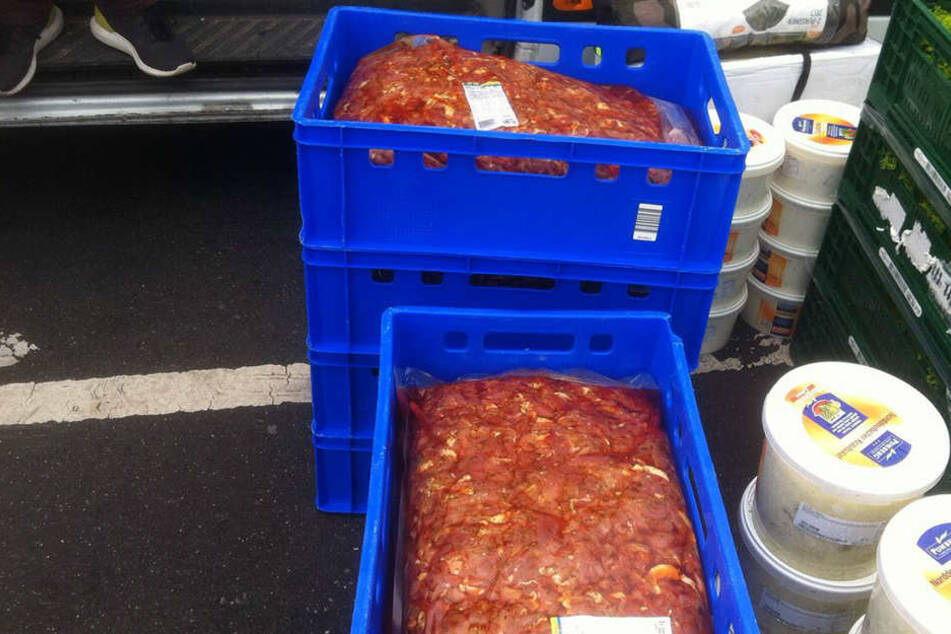 Das Fleisch wurde ohne Kühlung transportiert.